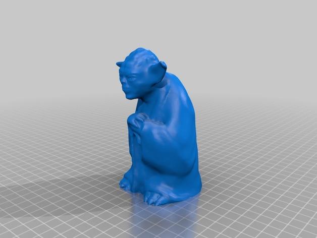尤达大师 3D打印模型渲染图