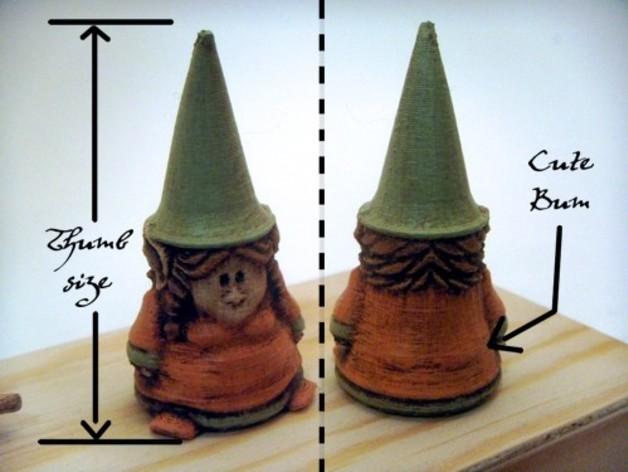 小矮人小姐 雕塑 3D打印模型渲染图