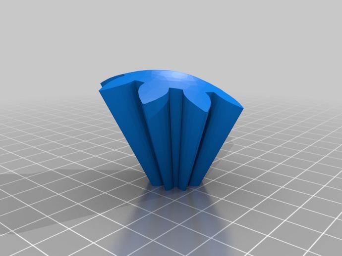 旋转齿轮 头骨模型