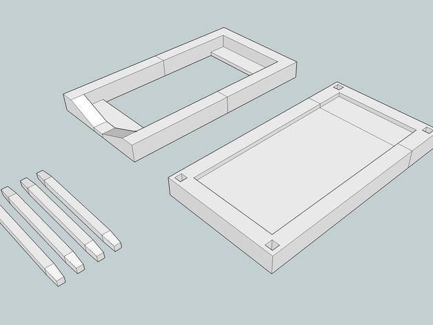 iPhone 5/S/C + iPod Touch全息室 3D打印模型渲染图