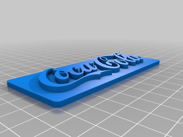 可口可乐标识 3D打印模型渲染图