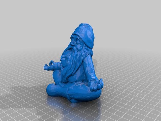 打坐的侏儒 3D打印模型渲染图