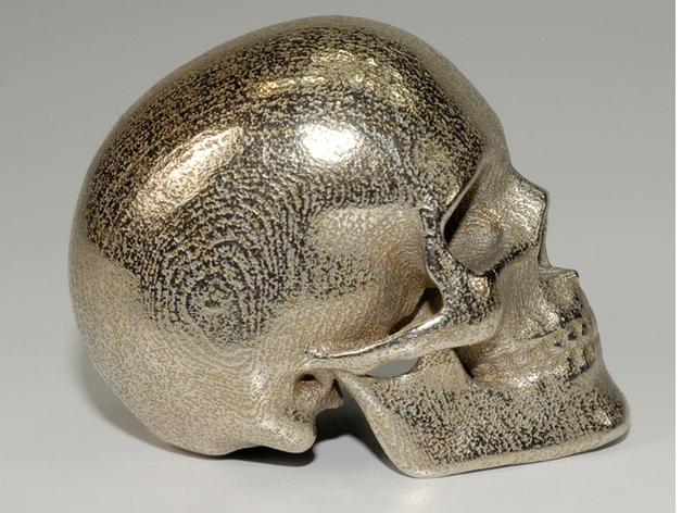 人类骷髅头 3D打印模型渲染图