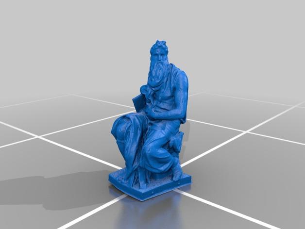 米开朗基罗所造的摩西像