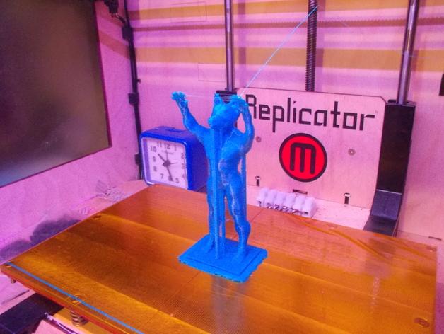 阿努比斯神像 3D打印模型渲染图
