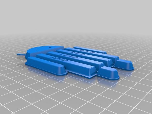 安卓小人 巧克力 3D打印模型渲染图