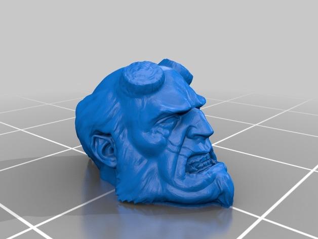 地狱男爵 头像雕塑