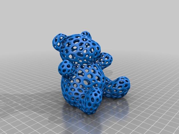 泰迪熊 3D打印模型渲染图