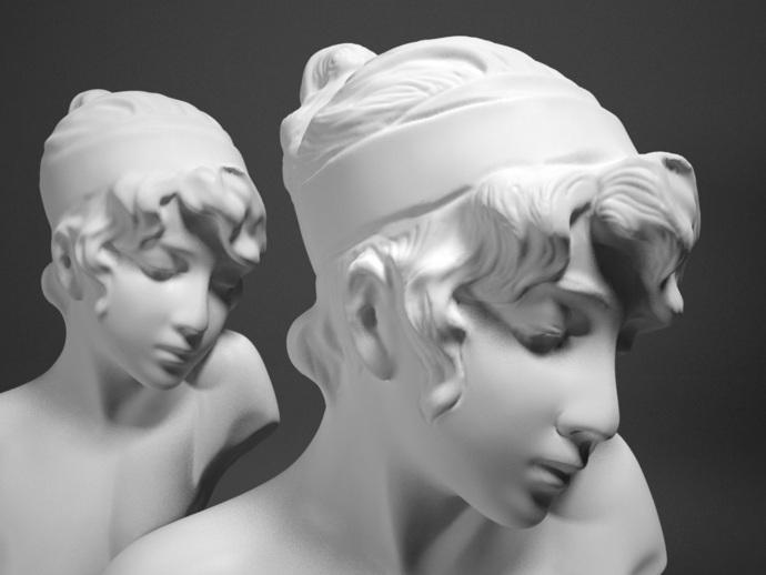 Sappho半身像雕塑模型