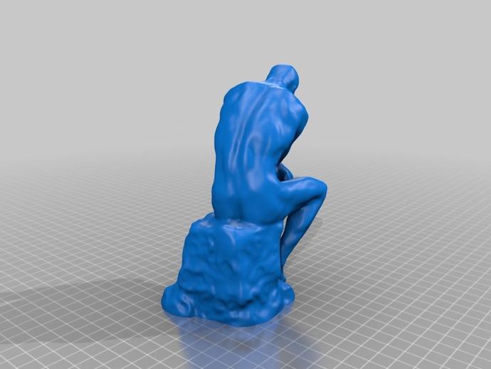 思考者 模型 3D打印模型渲染图