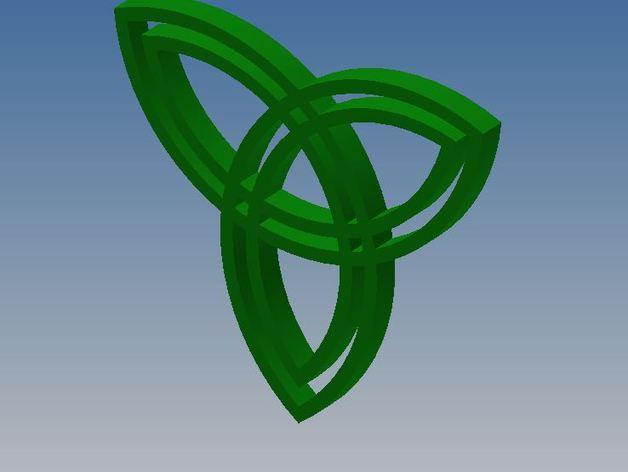 凯尔特结 3D打印模型渲染图