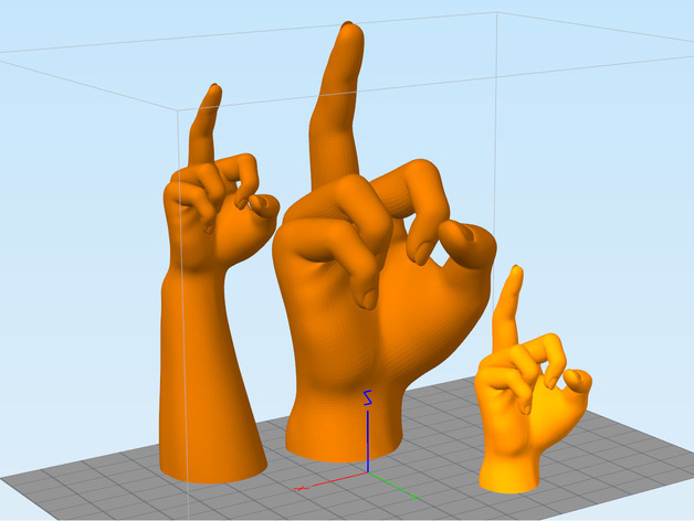 手模型 戒指架 3D打印模型渲染图