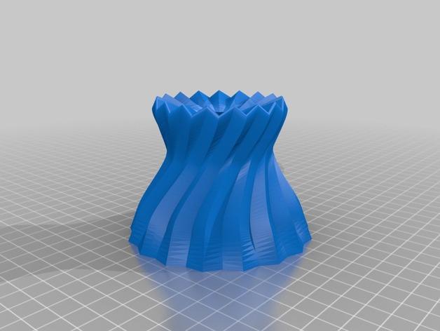 参数化波纹花瓶