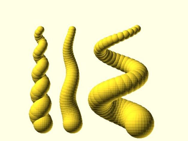 螺旋形的角 3D打印模型渲染图