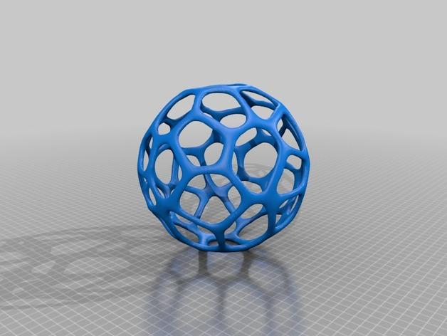 泰森多边形镂空球体