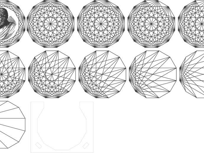 欧几里得头像杯垫 3D打印模型渲染图