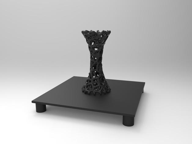 泰森多边形 镂空花瓶