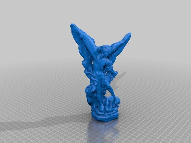 米迦勒michael雕塑模型 3D打印模型渲染图