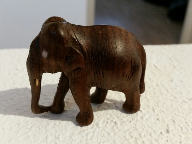 大象模型 3D打印模型渲染图