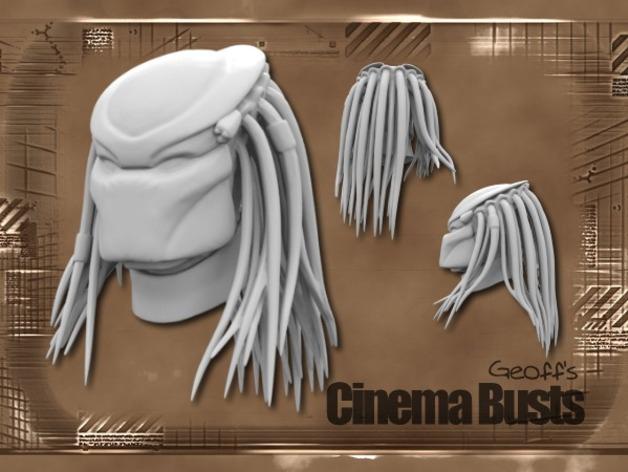 铁血战士头像模型 3D打印模型渲染图