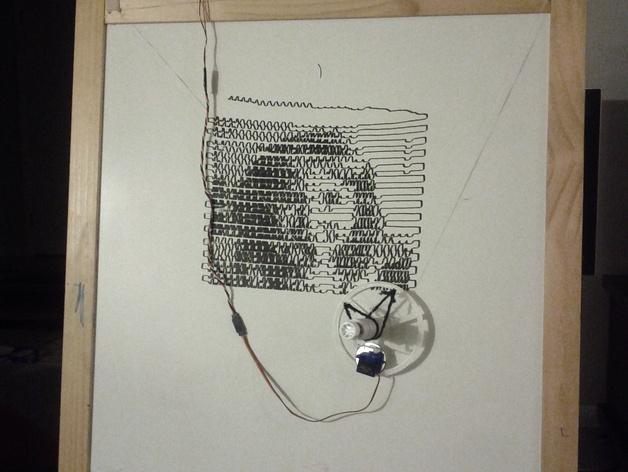 白板绘图机 3D打印模型渲染图