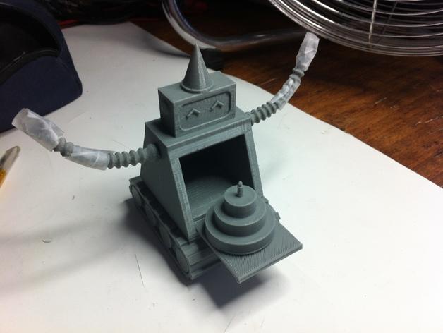 烤蛋糕的机器人 模型 3D打印模型渲染图