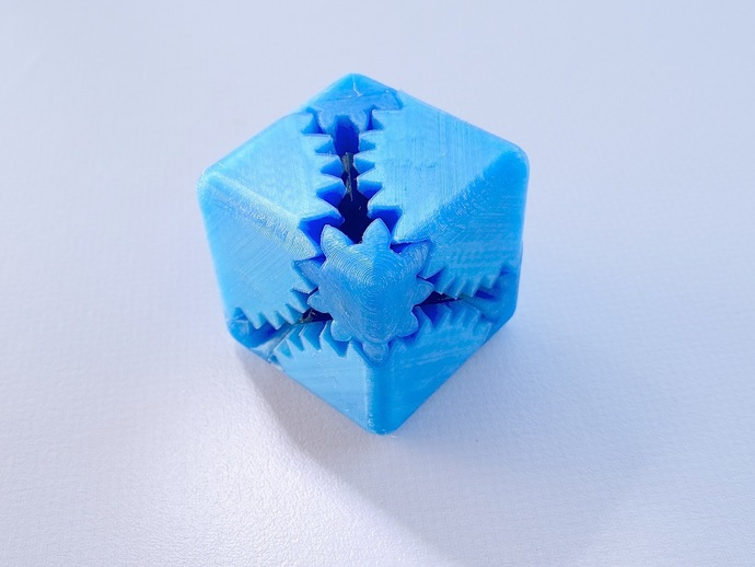 齿轮正方体 3D打印模型渲染图
