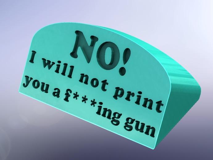 guns are bad标签 3D打印模型渲染图