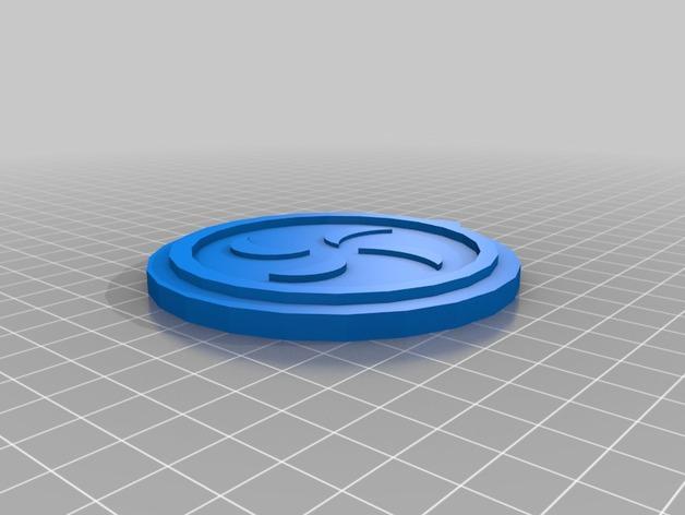 塞尔达传说 奖章 3D打印模型渲染图