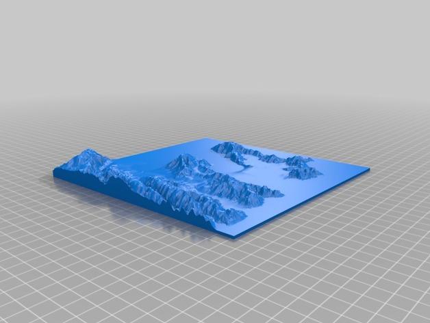 惠灵顿地貌图模型