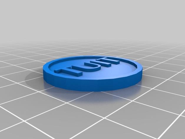 TUIT徽章  3D打印模型渲染图