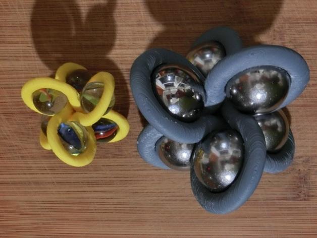Borromean rings分子环 模型 3D打印模型渲染图