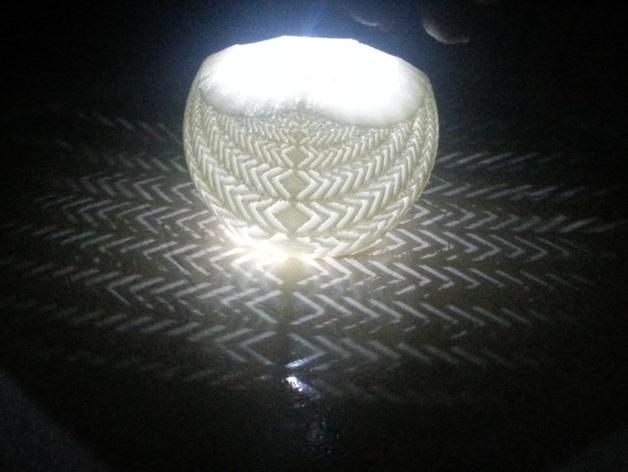 斜纹立体投影球 3D打印模型渲染图