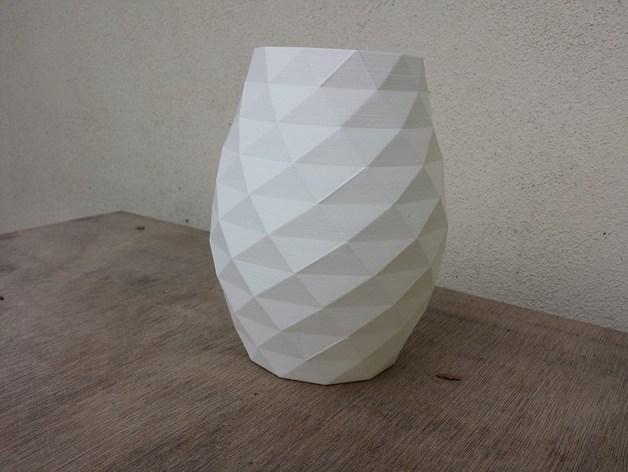 凹凸面花瓶 3D打印模型渲染图