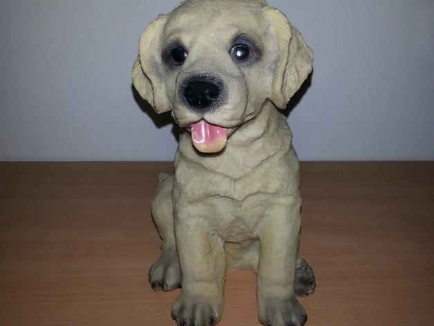 小拉布拉多犬模型 3D打印模型渲染图