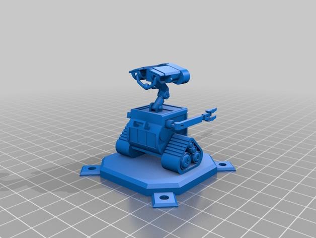 皮克斯的瓦力机器人 3D打印模型渲染图