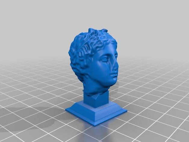罗曼头像雕塑模型