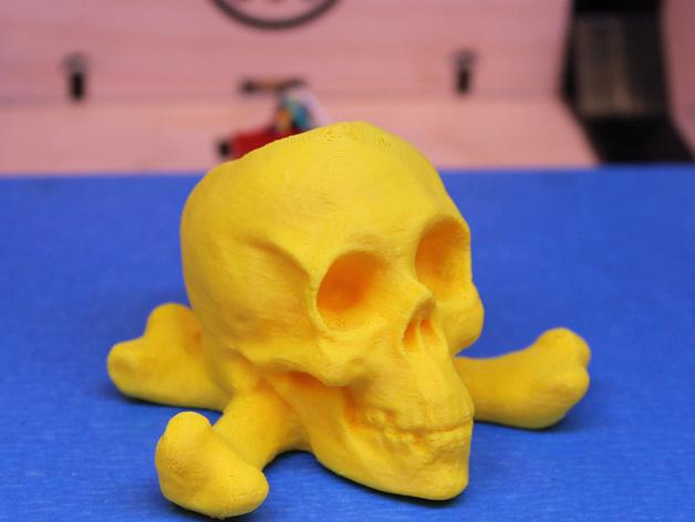 十字交叉骷髅 3D打印模型渲染图