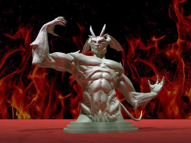邪恶的人 V2 3D打印模型渲染图