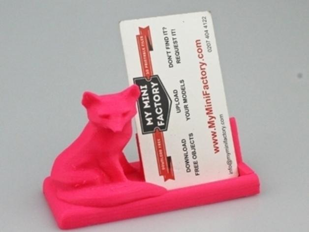 狐狸先生名片夹 3D打印模型渲染图