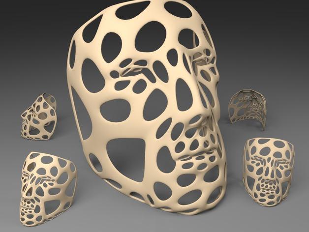 泰森多边形元素 面具