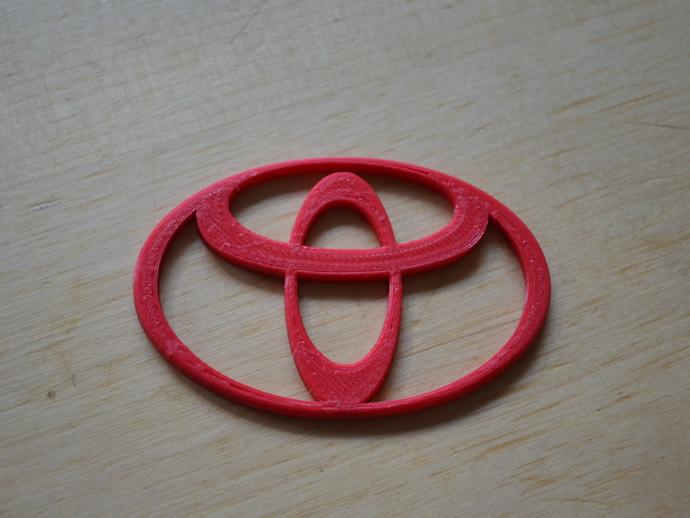 Toyota 标识 3D打印模型渲染图