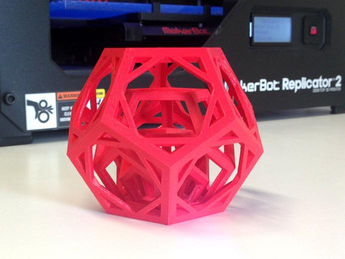 嵌套的12面体 3D打印模型渲染图