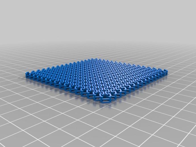锁甲杯垫 杯托 3D打印模型渲染图