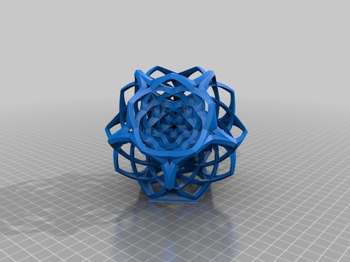 编织的十二面体 3D打印模型渲染图