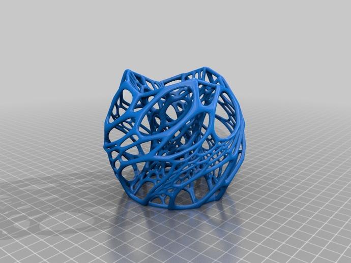 蜂窝形灯罩 3D打印模型渲染图