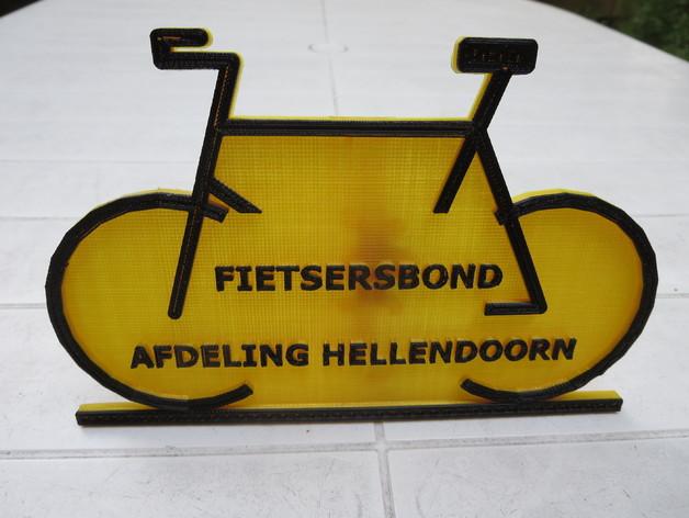 自行车形名牌 3D打印模型渲染图