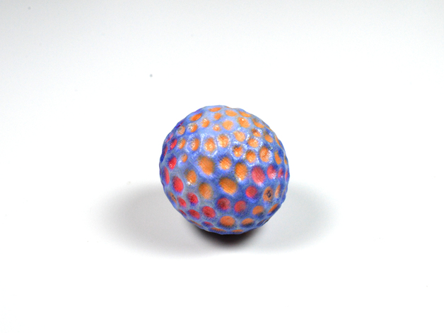 小彩球 3D打印模型渲染图