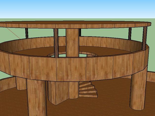 圆形建筑 模型