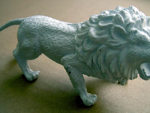 非洲狮 模型 3D打印模型渲染图
